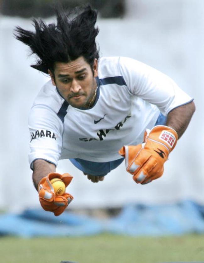 Indian cricketer Mahendra Singh Dhoni di