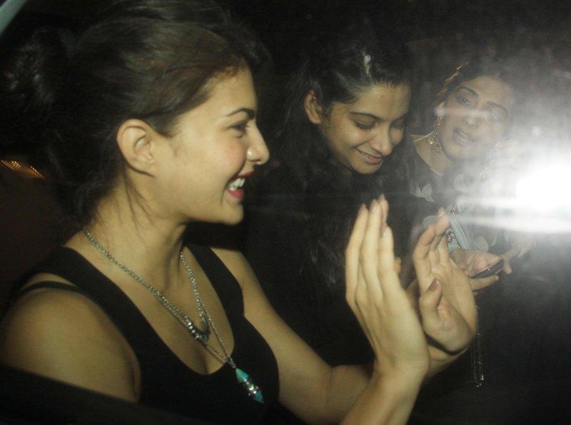 Jacqueline Fernandez, Rhea Kapoor, Sonam Kapoor