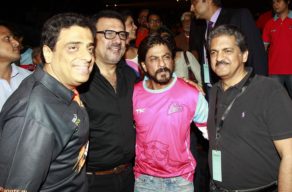Ronnie Screwvala, Bomn Irani, Shahrukh Khan and Anand Mahindra