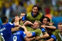 Italy Celebrate After Scoring Second Goal Against England