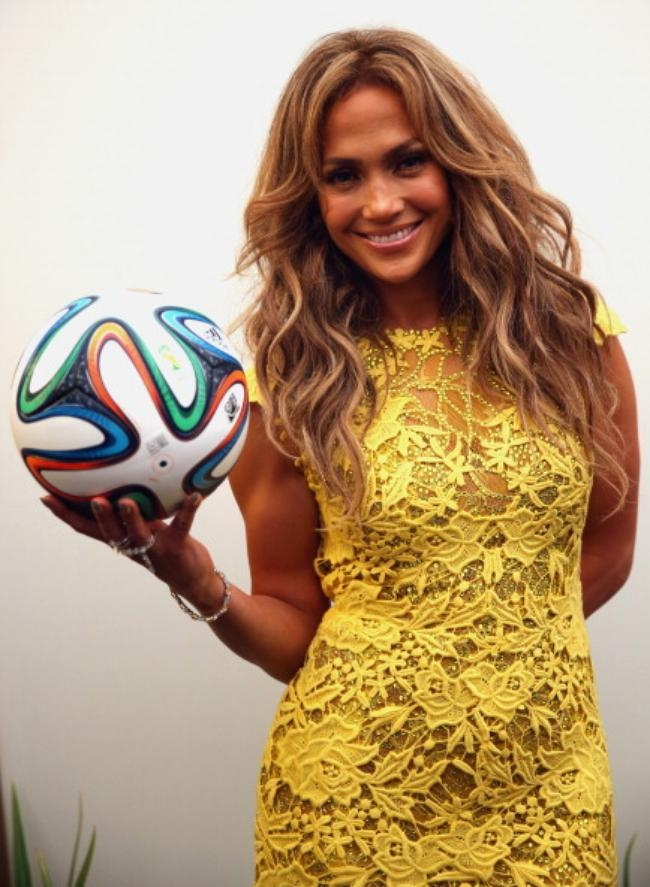 JLo With the Official Match Ball