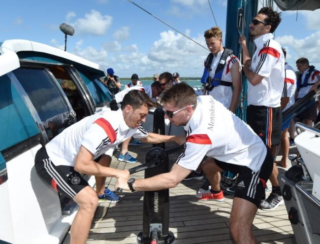 The German National Team Enjoys A Sailing Trip With Mike Horn