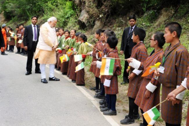Narendra Modi in Bhutan: PICS