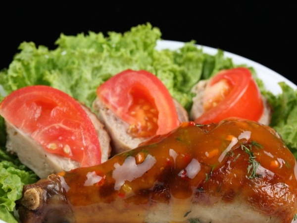 Low Fat Chicken Recipes Tomato Chicken with Brown Rice