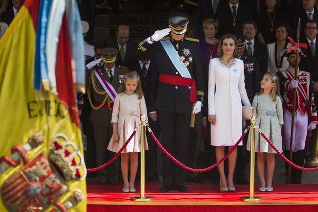 King Felipe VI, Queen Letizia, Princess Sofia, Princess Leonor,