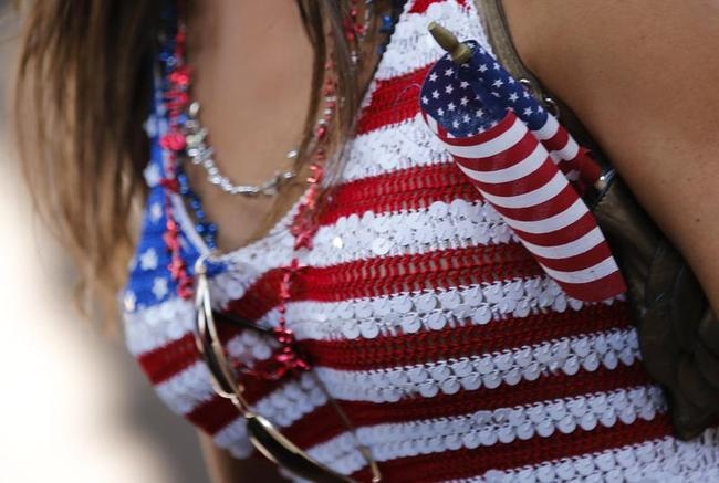 A U.S. fan is seen during the broadcast of the 2014 World Cup Group G soccer match between the U.S. and Germany in Belo Horizonte