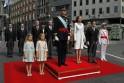 King Felipe VI, Queen Letizia, Princess Leonor, Mariano Rajoy, Infant Sofia