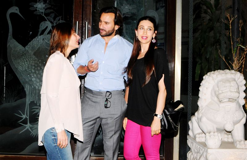 Karisma Kapoor, Kareena Kapoor and Saif Ali Khan