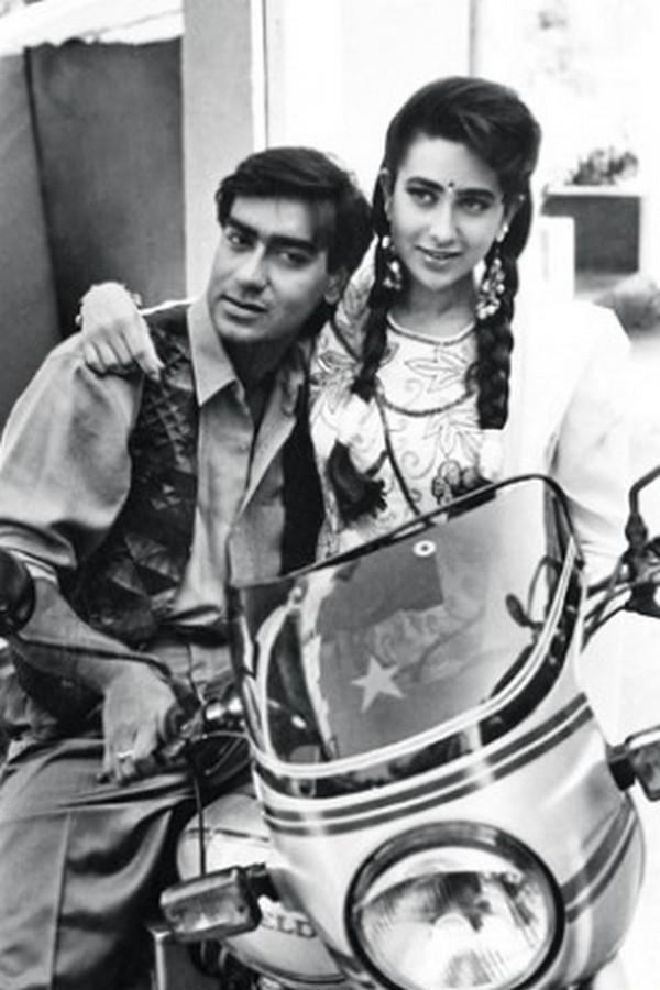 Karisma Kapoor and Ajay Devgn