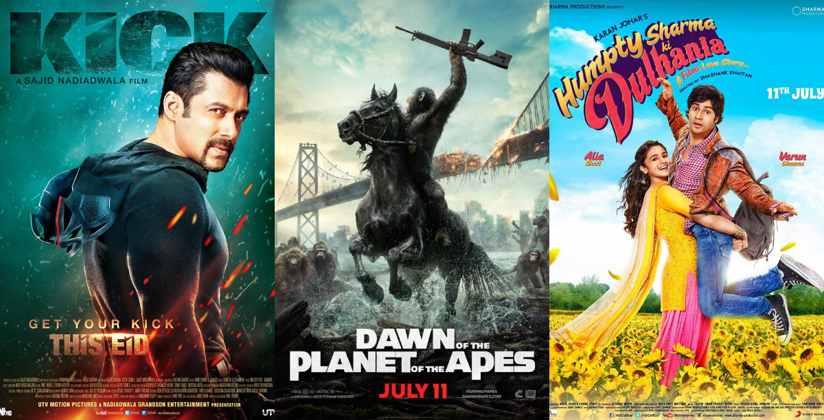 Bollywood and Hollywood releases in India in July
