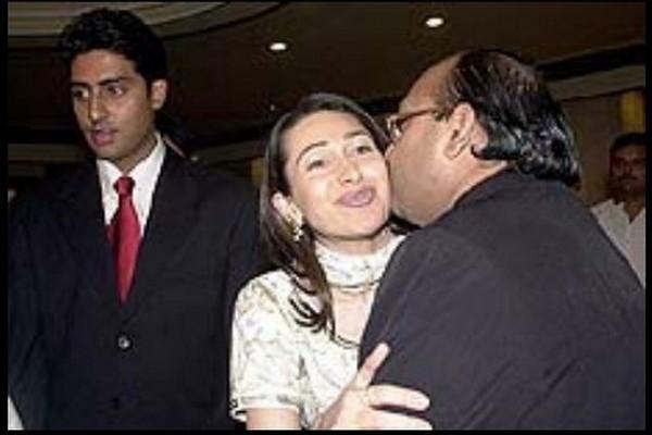 Karisma Kapoor with Abhishek Bachchan and Amar Singh