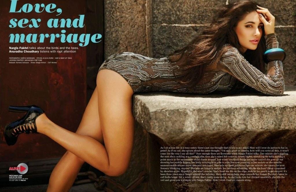 Nargis Fakhri Filmfare shoot