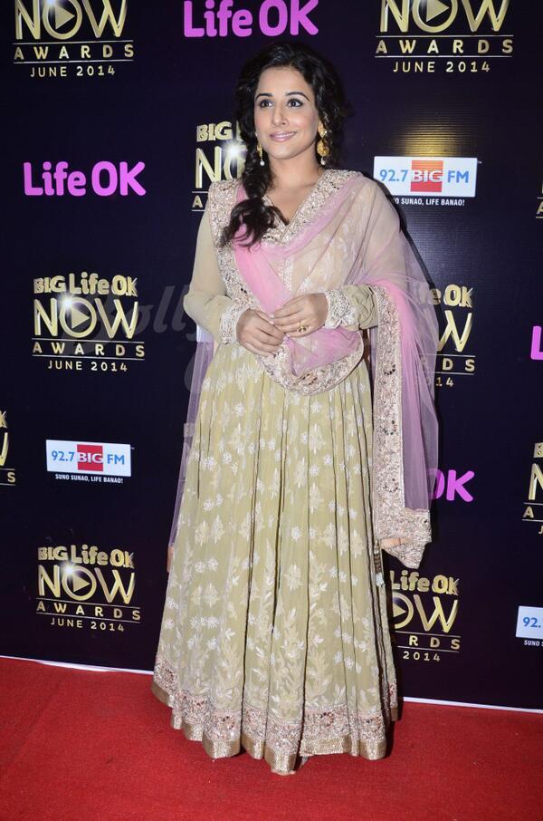 Vidya Balan at Big Life OK Now Awards