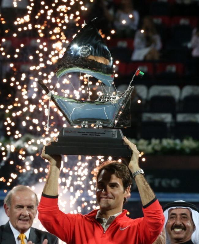 Roger Federer Wins Sixth Dubai Open