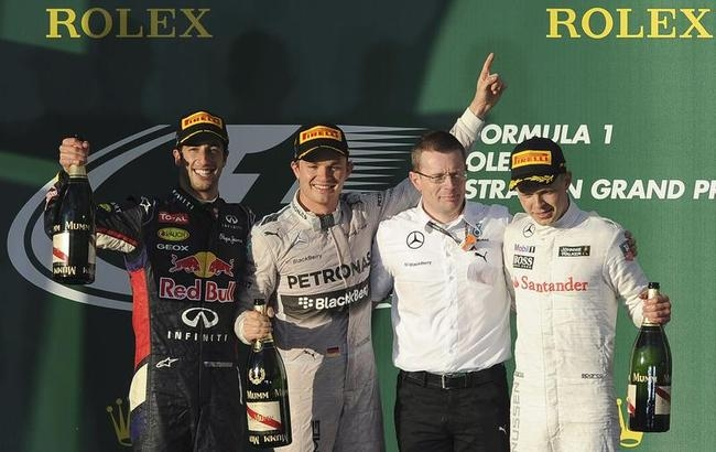 Nico Rosberg, Daniel Ricciardo, Kevin Magnussen