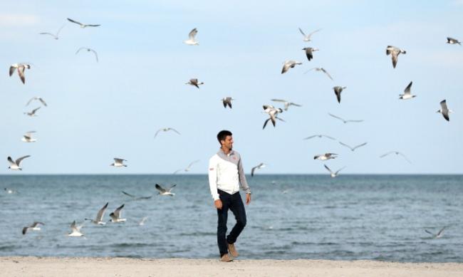 PICS: Novak Djokovic Celebrates His Win On Miami Beach