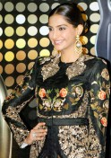 Sonam Kapoor posing at the Red Carpet of 1st Vivel Filmfare Awards