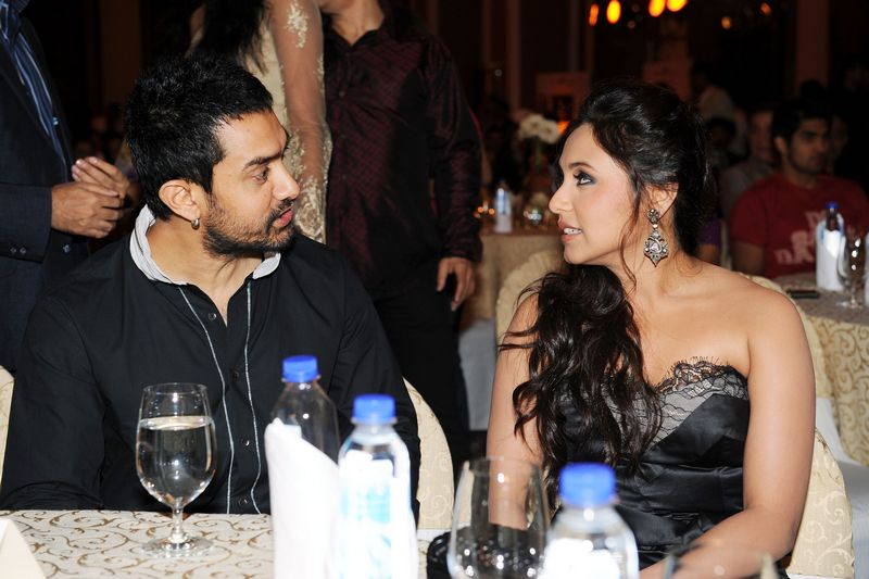 Aamir Khan with Rani Mukerji