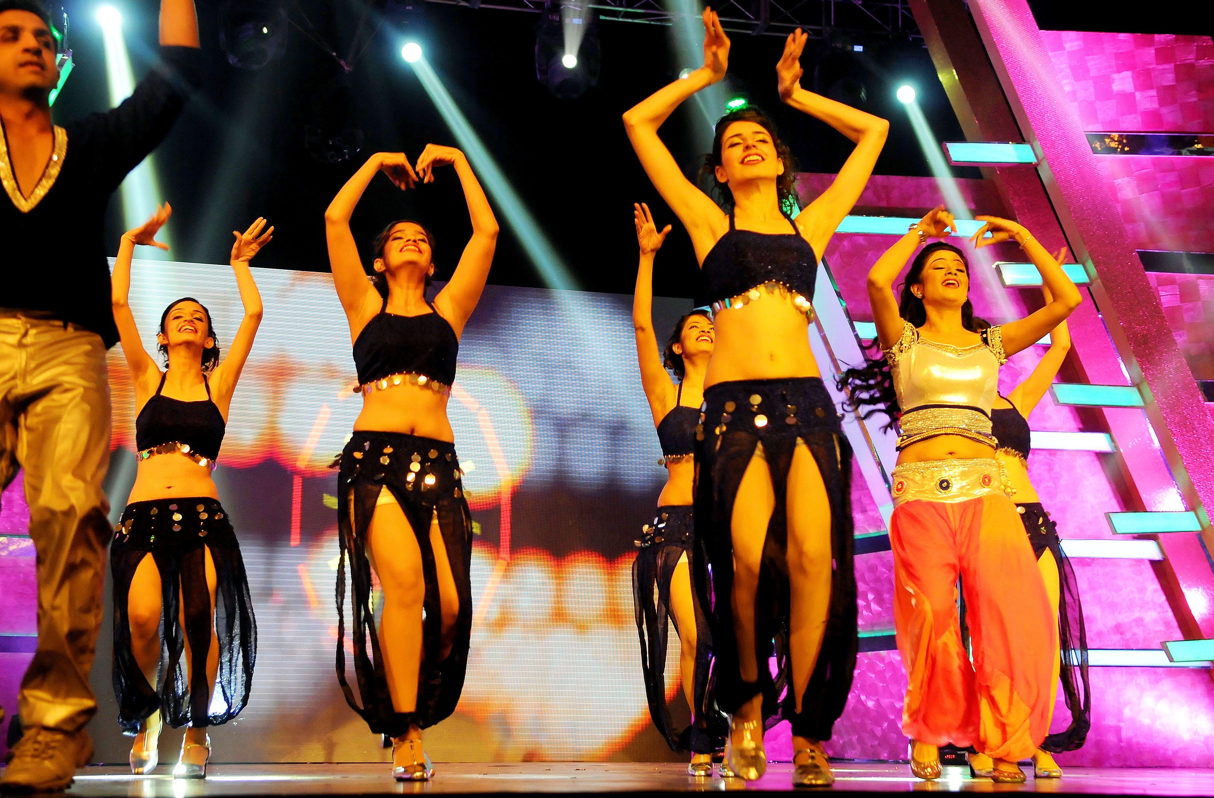 Oriya dancer Archita performs during 1st Vivel Filmfare Awards 2013 (East) at Science City auditorium in Kolkata