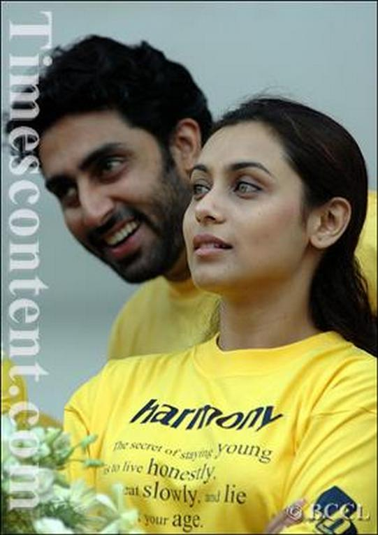 Abhishek Bachchan and Rani Mukerji