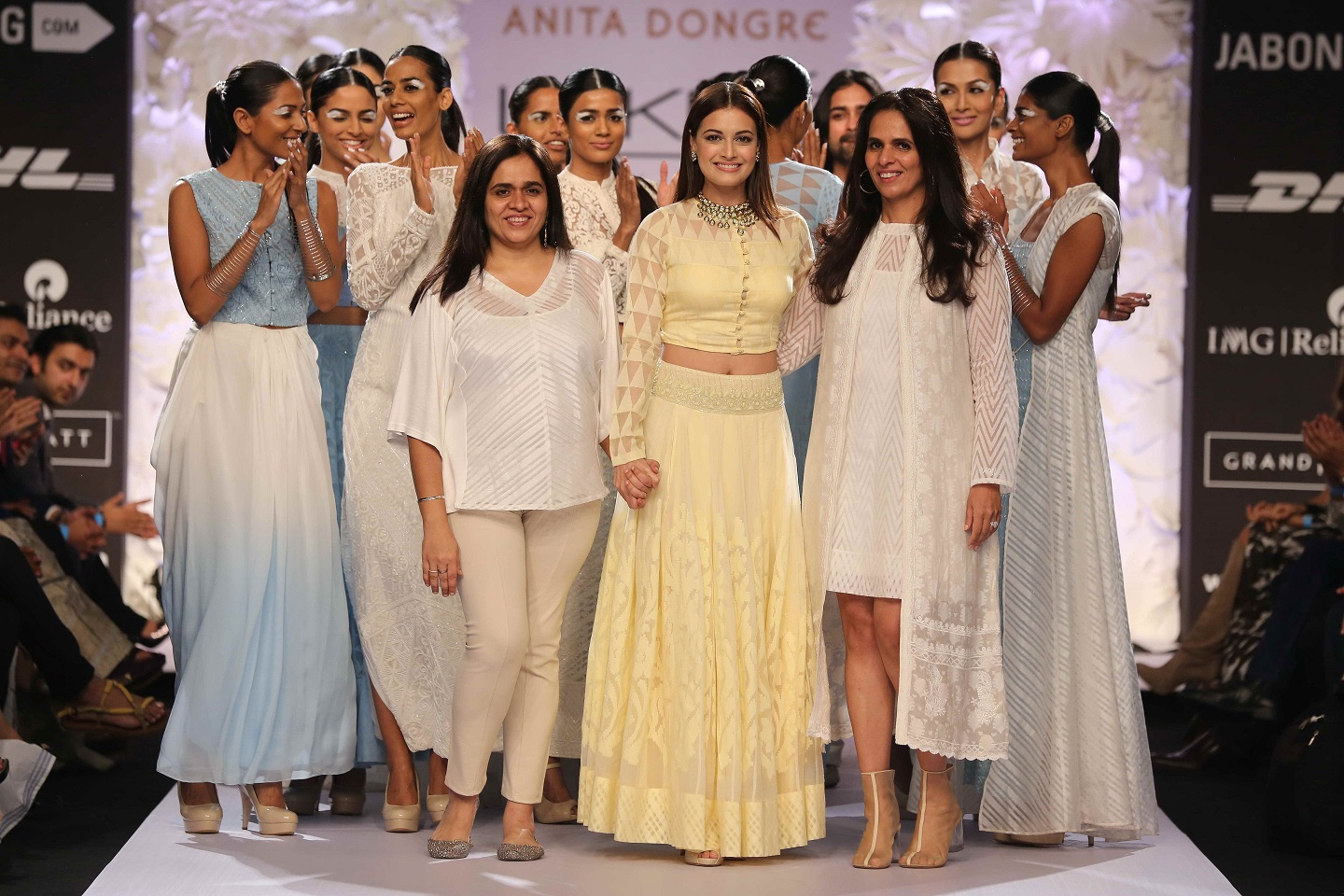 """Known for her many experiments with textiles, Anita Dongre ended Day Three at Lakmé Fashion Week Summer/Resort 2014 with her utterly breathtaking pastel collection called """"Varanasi Weaves"""" which was a tribute to the traditional Indian fabrics. Inspir"""