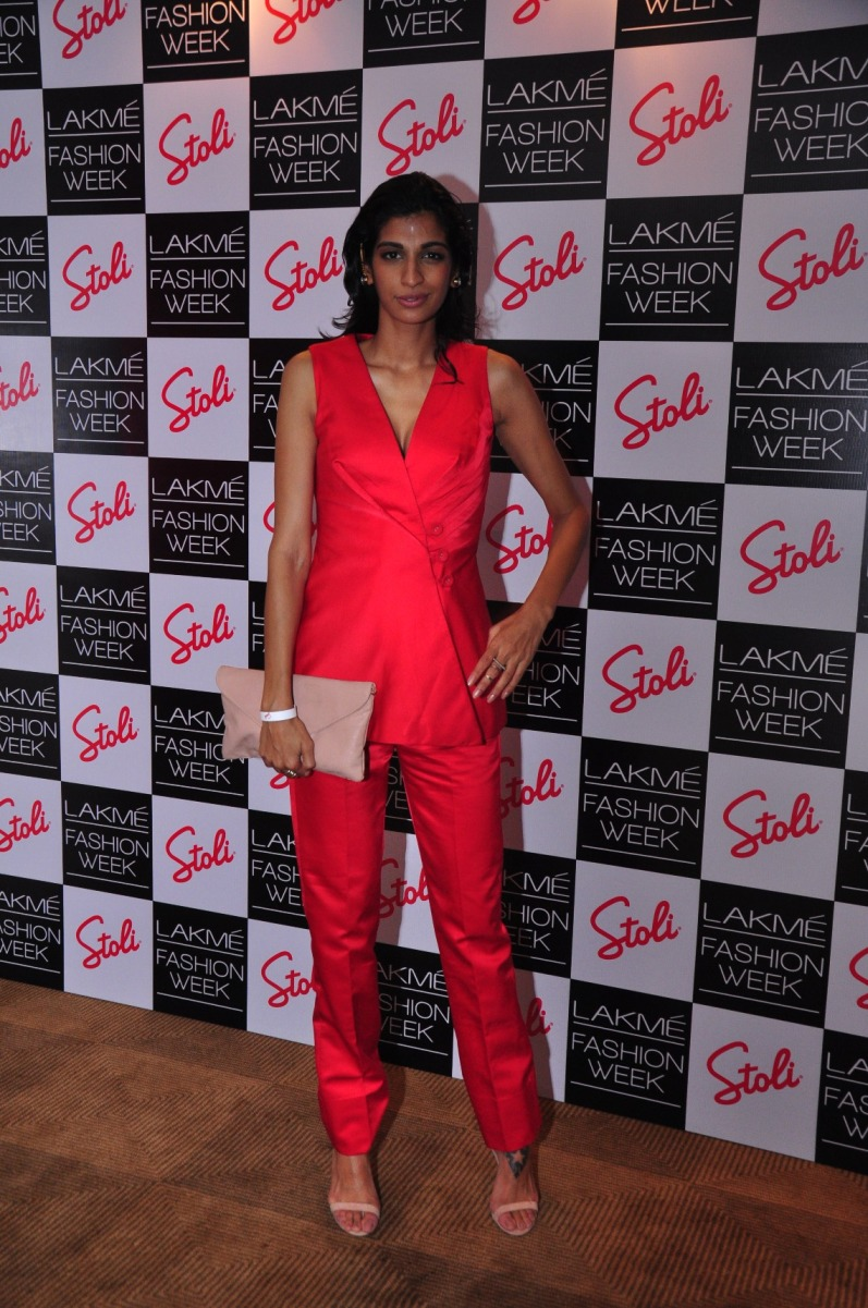 Pre-show cocktails for designers at Lakme Fashion Week were held at the Stoli Lounge.