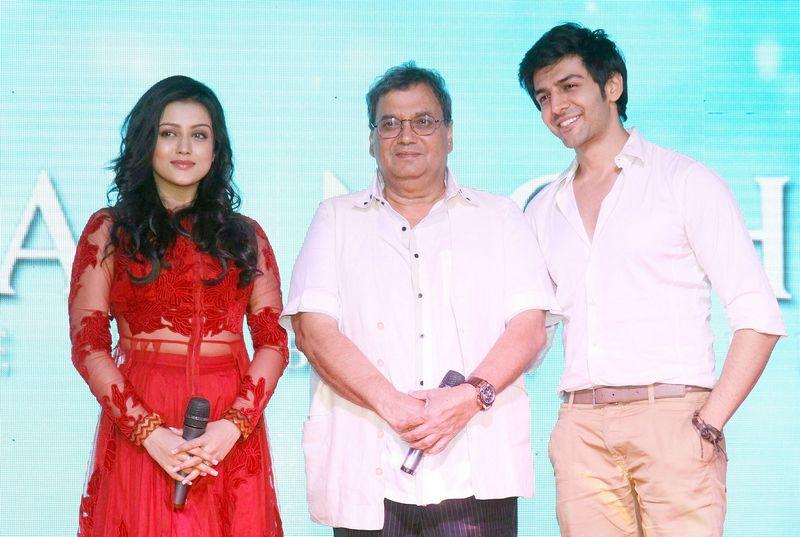 Subhash Ghai, Mishti and Kartik Aaryan