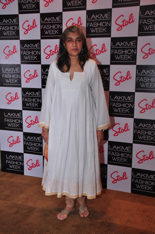 Ratna Pathak Shah at the LFW Pre Show Cocktails