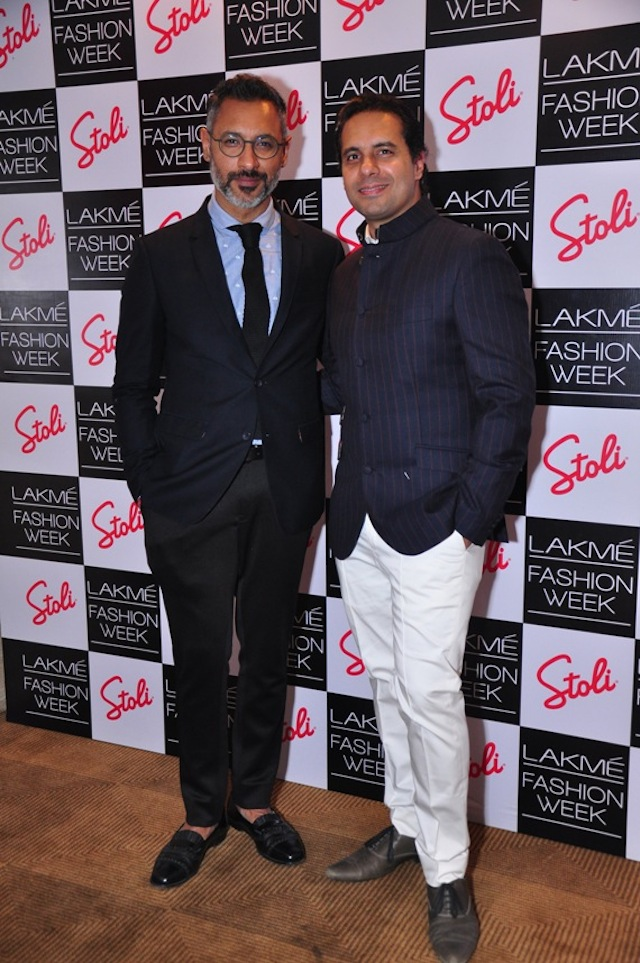 SHANTANU AND NIKHIL at the LFW cocktails on day four