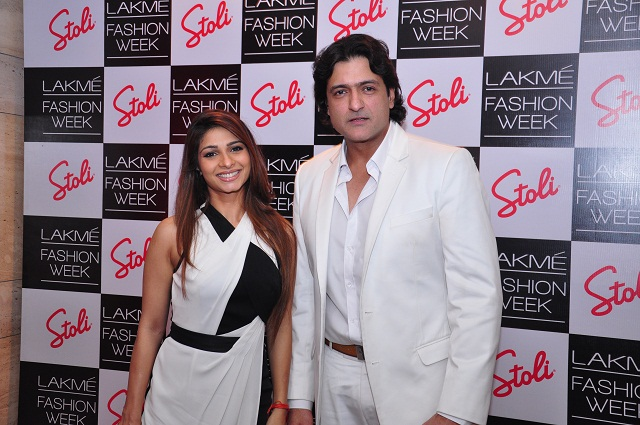 Tanisha & Armaan Kohli at the Stoli Lounge at Lakme Fashion Week