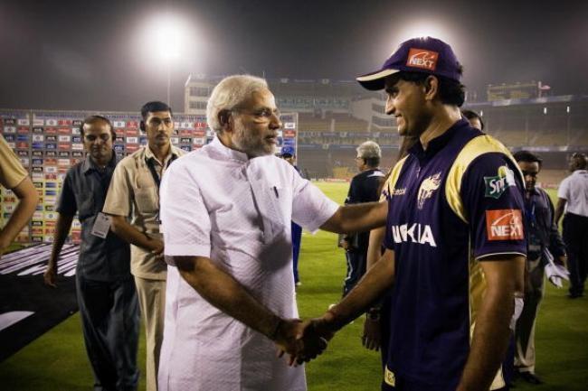 Narendra Modi Meets KKR captain Sourav Ganguly