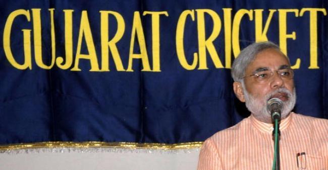 GCA President Narendra Modi
