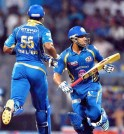 Rohit-Pollard Added 97 For The Fifth Wicket