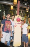 CRICKET PLAYERS AT TEN PIN BOWLING