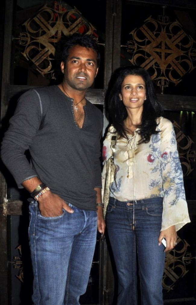 Indian tennis payer Leander Paes and Rhea Pillai