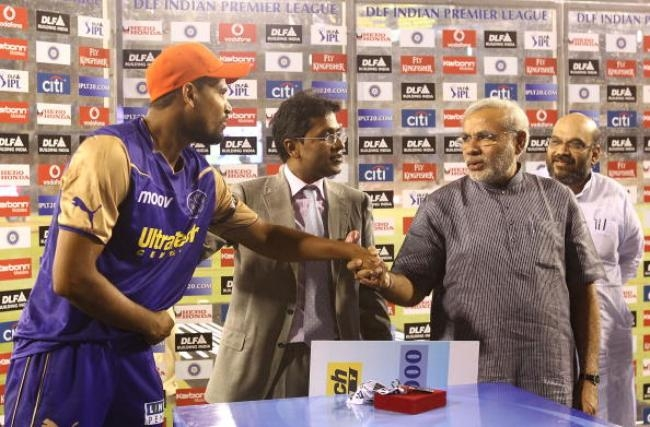 Yusuf Pathan is acknowledged by Narendra Modi