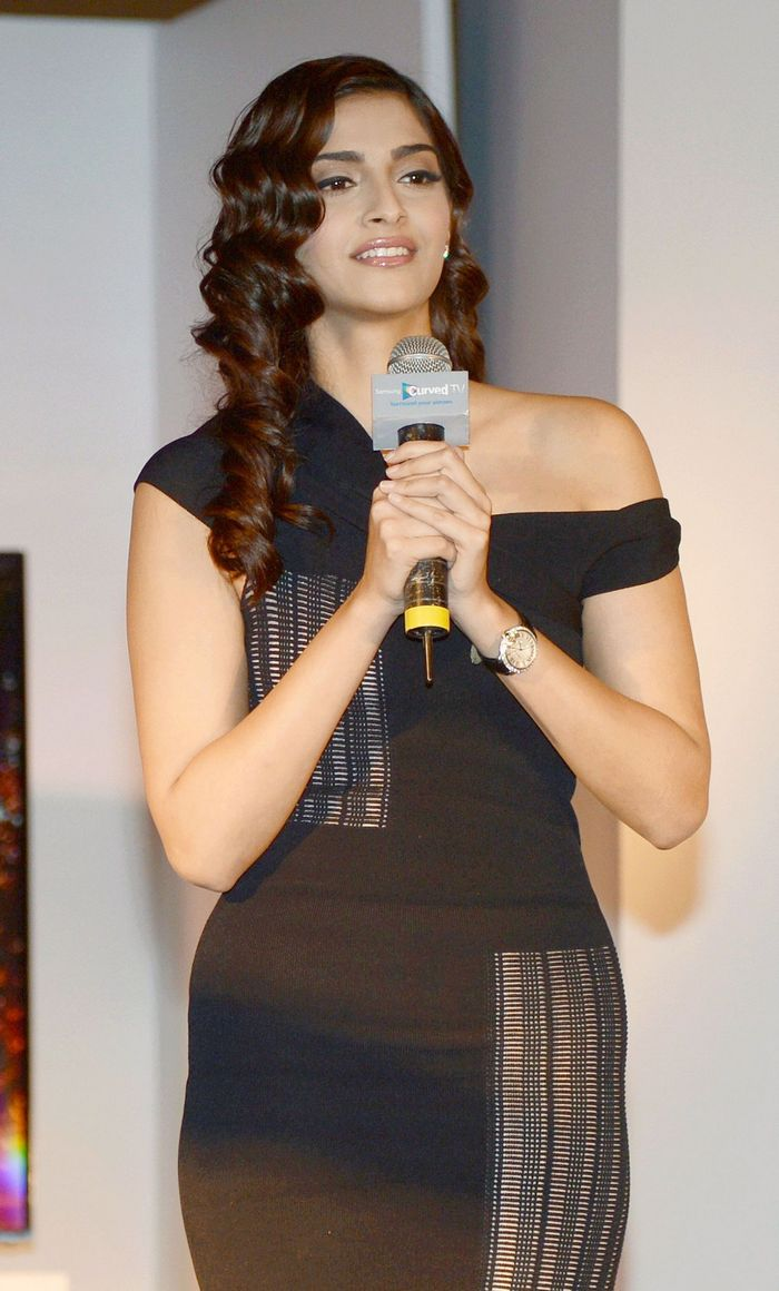 warning curves ahead sonam kapoor steps out in little