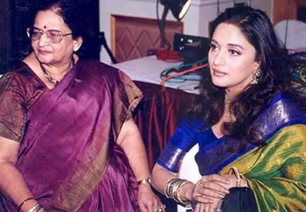 Madhuri Dixit-Nene with mother