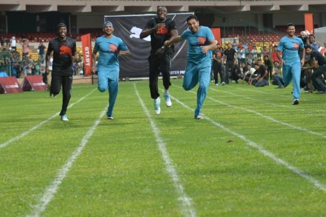 The 100m race