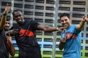 Bolt With Bhajji and Yuvi