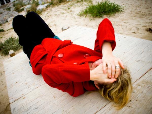fainting woman